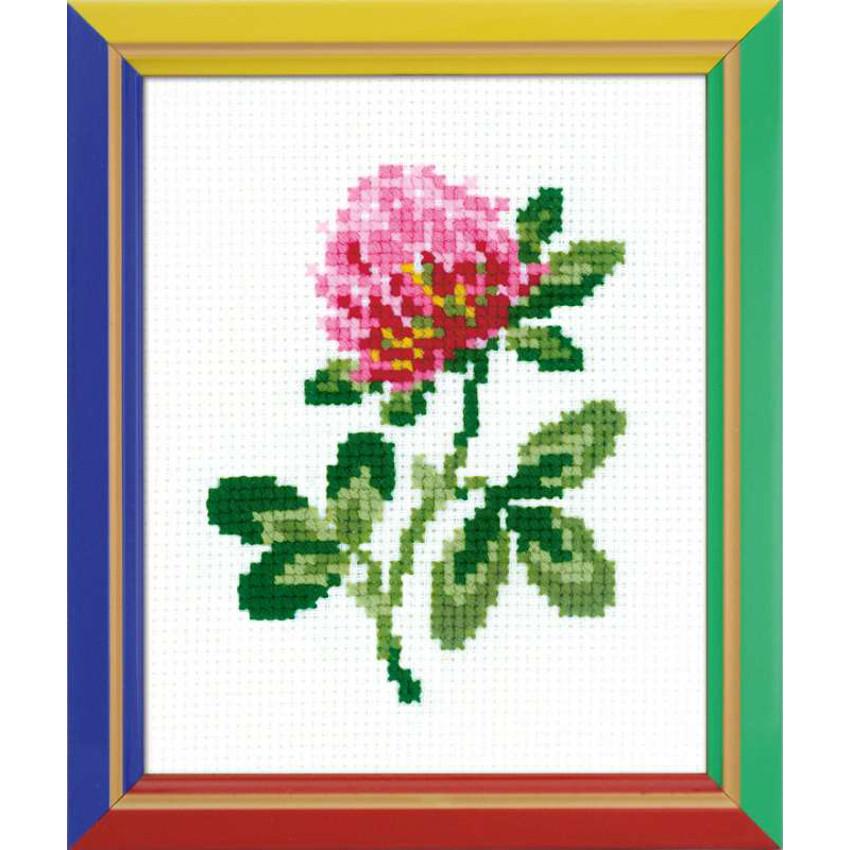 Riolis fleur de tr fle code hb152 la kits broderie par marque riolis - Apprendre le point de croix ...