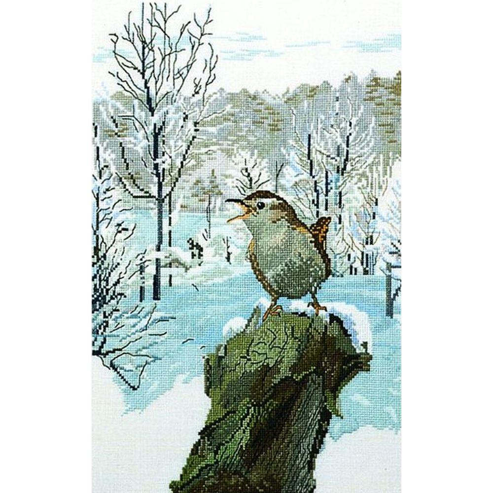 Oiseau dans la neige  90-6112  Permin of Copenhagen