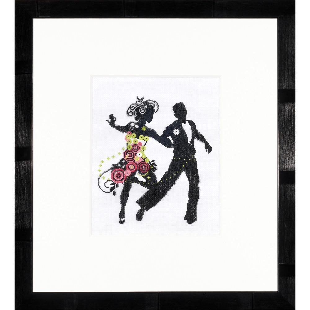 dance couple lanarte 0008196 kits broderie la brodeuse. Black Bedroom Furniture Sets. Home Design Ideas