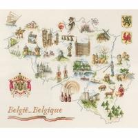 Lanarte  carte de Belgique  0173689