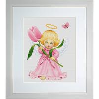 Angelot avec une fleurs  B193  LUCA-S