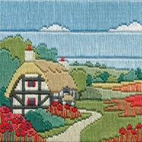 Bothy Threads  paysage et coquelicots  SLS6