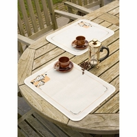 Vervaco  0147512   Set de table  café  Broderie  point de croix compté