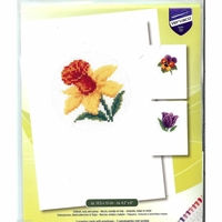 Vervaco  Trois cartes fleurs  0147924