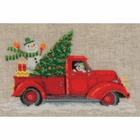 Camion et arbre de Noël  0166616 Vervaco