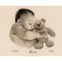 Vervaco  Bébé avec ourson  0163566
