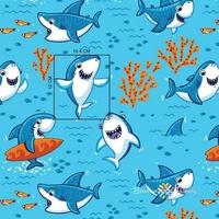 Tissu Requins  00025