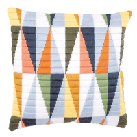 Coussin point lancé Triangles - Vervaco PN-0147911
