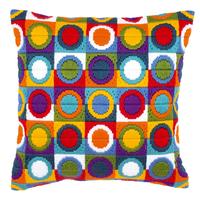Coussin point lancé Cercles multicolores - Vervaco PN-0021380