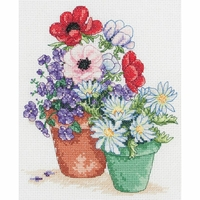 Fleurs anémones et pâquerette PCE0502 Anchor