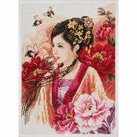 Dame asiatique en rose 0184323 Lanarte