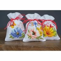 Trois sachets Fleurs colorées 0185083 Vervaco