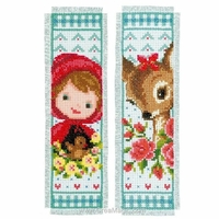Vervaco  0150895  Deux Marque-page  Bambi et Chaperon Rouge