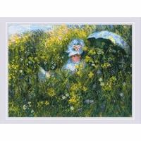 Dans La Prairie d après la peinture de C. Monet 1850 Riolis