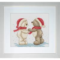 Bruno et Bianca dans la neige  B1015  LUCA-S