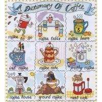 Sampler Dictionnaire de Tasse à café   XDO15  Bothy Threads