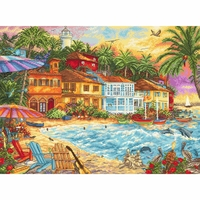 Vacance sur l île 926 Letistitch  Kit point de croix