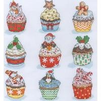 Cup Cakes de Nöel  XH6 Bothy Threads