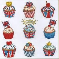 Cup Cakes  célébration  XH4 Bothy Threads