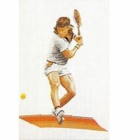 Joueurs de Tennis  1004  Thea Gouverneur  Kit point de croix
