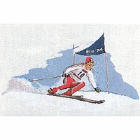 Thea Gouverneur  1005A  Ski Alpin  Kit point de croix