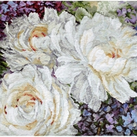 Roses blanche 930 Letistitch  Kit point de croix