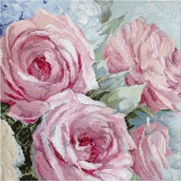 Roses rose pâle 928 Letistitch Kit point de croix