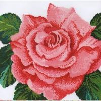 Rose rose XGF6 Bothy Threads  Kit  point de croix compté