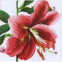 Fleurs de Lys rose  XGF7 Bothy Threads  Kit point de croix compté