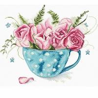 Une Tasse de roses 916 Letistitch  Kit point de croix