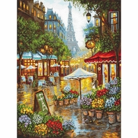 Fleurs de printemps à Paris  923 Letistitch  Kit point de croix