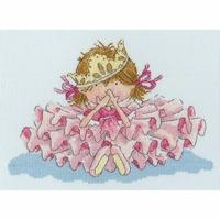Princesse en rose  XNM1  Bothy Threads  Kit  point de croix compté