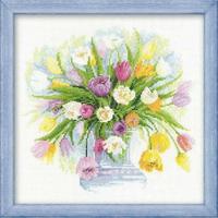 Aquarelle de Tulipes - Riolis 100-008