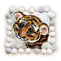 Coussin Bébé tigre - Riolis 1035