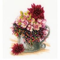 Bouquet de fleurs roses  0185110  Lanarte