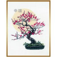 Bonsaï Sakura - Riolis 1036 - Kit broderie point de croix en vente sur www.la-brodeuse.com