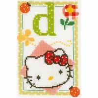 Hello Kitty lettre D  0149526 Vervaco