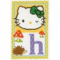 Hello Kitty lettre H  0149532  Vervaco