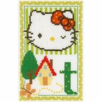 Hello Kitty  Lettre T  0149582  Vervaco