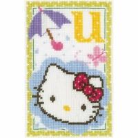 Hello Kitty  Lettre U  0149583  Vervaco