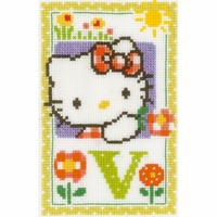 Hello Kitty  Lettre V  0149595  Vervaco