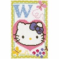 Hello Kitty  Lettre W  0149596  Vervaco