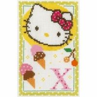 Hello Kitty  lettre X  0149597  Vervaco