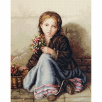 Petite fille aux fleurs  B513  Luca-S