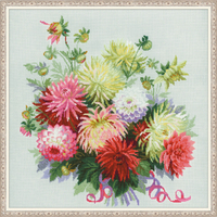 Bouquet de dahlias - Riolis 1384