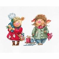 Cochons de Noël  B1161  Luca-S