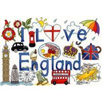 I Love England - Bothy Threads - Kit Aïda - Code Bothy-XL1