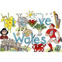 I Love Wales - Bothy Threads - Kit Aïda - Code Bothy-XL2