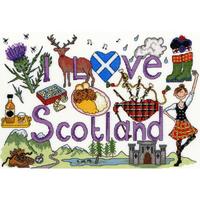 I Love Scotland - Bothy Threads - Kit Aïda - Code Bothy-XL3