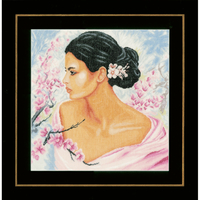 Dame parmi les fleurs - Kit lin - Lanarte PN-0155690